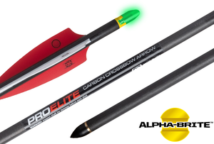 "TenPoint Pro Elite 2.0 Lighted Alpha Nock 20"" Carbon Xbow Arrows 3pk"