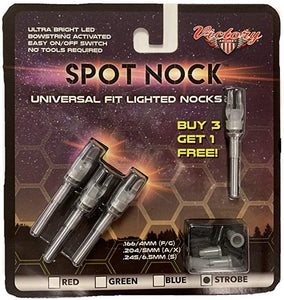 Spot Nock Lighted Strobe 4pk Victory Archery