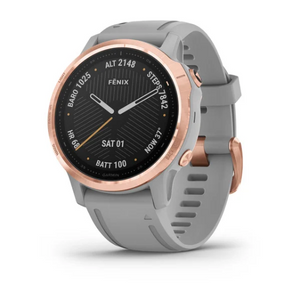 Garmin fēnix® 6S - Sapphire - Rose Gold-tone with Powder Gray Band