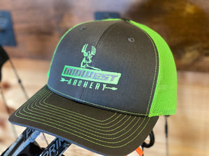 Midwest Archery Green Center Logo Hat