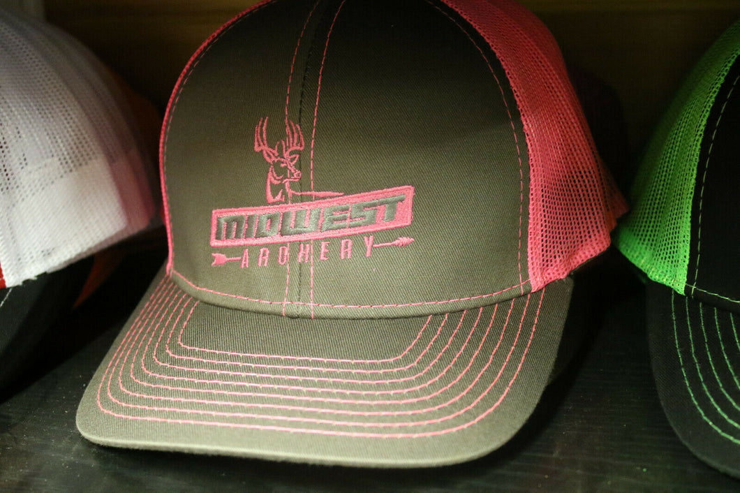 Midwest Archery Pink Center Logo Hat