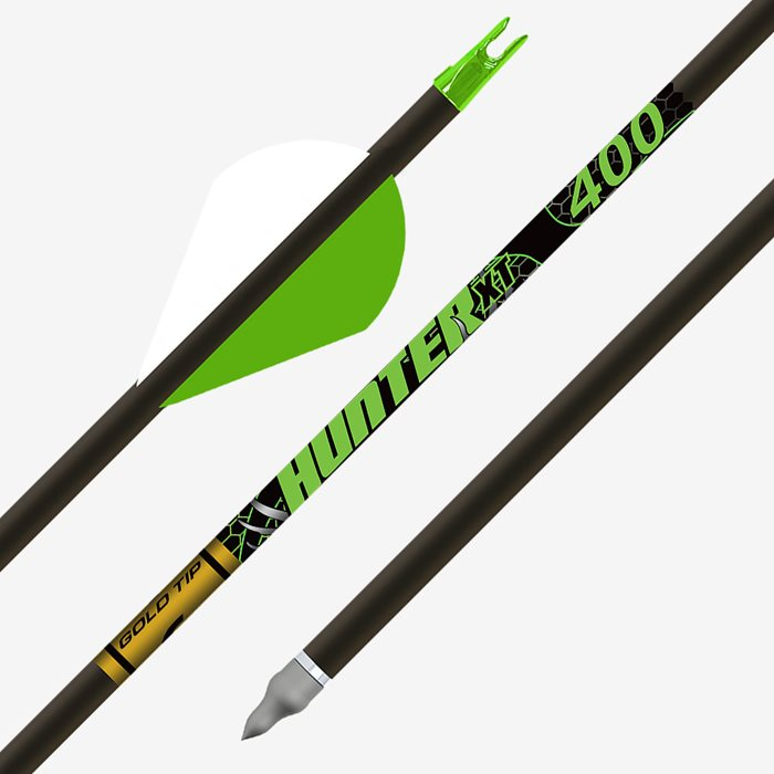 6 Hunter XT 300 Gold Tip Arrows