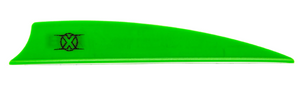 "Bohning X Vane 3.5"" Shield Neon Green 36 pk"