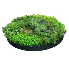 Load image into Gallery viewer, Artificial Green Wall Disk Art 150cm - Dense Green Sensation - Black Frame