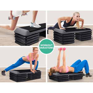 5 Level Aerobic Exercise Step Stepper Riser Gym Cardio Fitness Bench