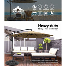 Load image into Gallery viewer, Outdoor Umbrella Stand 4 x Base Pod Plate Sand/Water Patio Cantilever Fanshaped