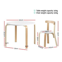 Load image into Gallery viewer, Kids Table and Chair Set Study Desk Dining Wooden