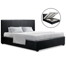 Load image into Gallery viewer, Double Size PU Leather and Wood Bed Frame Headborad - Black
