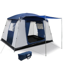 Load image into Gallery viewer, 6 Person Dome Camping Tent - Navy and Grey