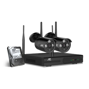 CCTV Wireless Security System 2TB 4CH NVR 1080P 2 Camera Sets