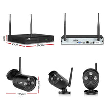 Load image into Gallery viewer, CCTV Wireless Security System 2TB 4CH NVR 1080P 2 Camera Sets