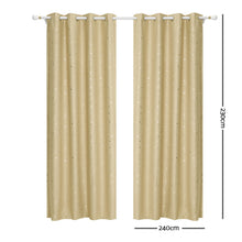 Load image into Gallery viewer, 2 Star Blockout 240x230cm Blackout Curtains - Latte
