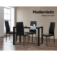 Load image into Gallery viewer, 5-Piece Dining Table and Chairs Sets - Black