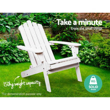 Load image into Gallery viewer, Outdoor Furniture Lounge Chairs Beach Chair Wooden Adirondack Patio Garden