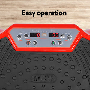 Vibration Machine Plate Platform Body Shaper Home Gym Fitness Red