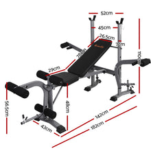 Load image into Gallery viewer, Multi Station Weight Bench Press Fitness Weights Equipment Incline Black