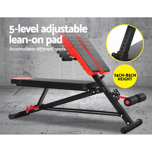 Adjustable Weight Bench Sit-up Fitness Flat Decline Home Gym Machine Steel Frame