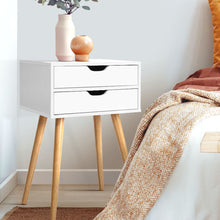 Load image into Gallery viewer, Bedside Tables Drawers Side Table Nightstand Wood Storage Cabinet White