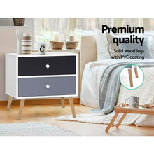 Load image into Gallery viewer, Bedside Tables Drawers Side Table Nightstand Lamp Side Storage Cabinet