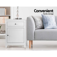 Load image into Gallery viewer, Bedside Tables Big Storage Drawers Cabinet Nightstand Lamp Chest White