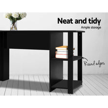 Load image into Gallery viewer, Office Computer Desk Corner Student Study Table Workstation L-Shape Black