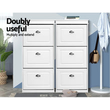 Load image into Gallery viewer, Shoe Cabinet Shoes Storage Rack White Organiser Shelf Cupboard 18 Pairs Drawer