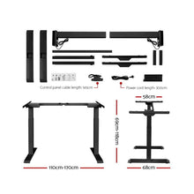Load image into Gallery viewer, Electric Motorised Height Adjustable Standing Desk Laptop 2-Motor 160cm