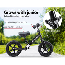 Load image into Gallery viewer, Kids Balance Bike Ride On Toys Puch Bicycle Wheels Toddler Baby 12 Bikes Black""