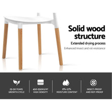Load image into Gallery viewer, 4x Belloch Replica Dining Chairs Kichen Cafe Stackle Beech Wood Legs White