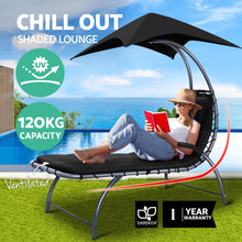 Load image into Gallery viewer, Outdoor Sun Lounge Canopy Day Bed Sofa Garden Patio Furniture Cushion