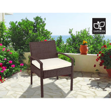 Load image into Gallery viewer, Outdoor Chairs Wicker Dining Chair Patio Garden Furniture Lounge Bistro Set Cafe Cushion  Brown
