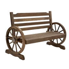 Load image into Gallery viewer, Park Bench Wooden Wagon Chair Outdoor Garden Backyard Lounge Furniture