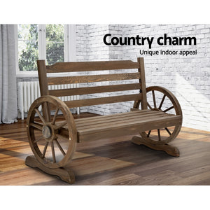 Park Bench Wooden Wagon Chair Outdoor Garden Backyard Lounge Furniture