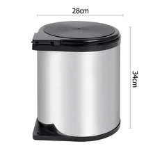 Load image into Gallery viewer, Kitchen Pull Out Stainless Steel Bin - Silver