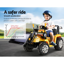 Load image into Gallery viewer, Kids Ride On Bulldozer Digger Electric Car Yellow