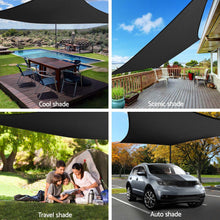 Load image into Gallery viewer, 3x4m Shade Sail Sun Shadecloth 280gsm Black
