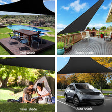 Load image into Gallery viewer, Sun Shade Sail Canopy Triangle 280gsm 5x5x5m Black