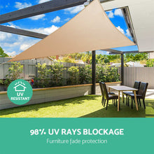 Load image into Gallery viewer, Sun Shade Sail Canopy Triangle 280gsm 5x5x5m