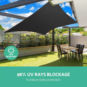 280gsm 5x7m Sun Shade Sail Canopy Rectangle