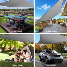 Load image into Gallery viewer, Sun Shade Sail Cloth Shadecloth Outdoor Canopy Square  280gsm 6x6m