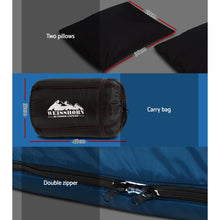 Load image into Gallery viewer, Sleeping Bag Bags Double Camping Hiking -10°C to 15°C Tent Winter Thermal Navy