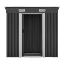 Load image into Gallery viewer, 1.94 x 1.21m metal Tool Shed - Grey