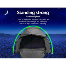 Load image into Gallery viewer, Biker Swag Camping Single Swags Tent Biking Deluxe Ripstop Canvas Grey