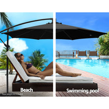 Load image into Gallery viewer, 3M Cantilevered Outdoor Umbrella - Black