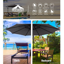 Load image into Gallery viewer, 3M Outdoor Furniture Garden Umbrella Charcoal