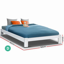Load image into Gallery viewer, Bed Frame Double Size Wooden Bed Base JADE Timber Foundation Mattress