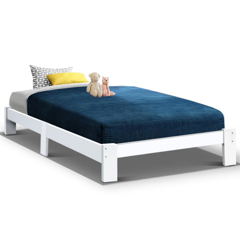 Bed Frame Single Wooden Bed Base Frame Size JADE Timber Mattress Platform