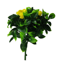Load image into Gallery viewer, Flowering Yellow Rose Stem UV Resistant 30cm