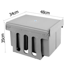 Load image into Gallery viewer, Set of 2 15L Twin Pull Out Bins - Grey
