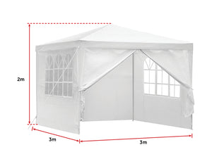 3x3m  Outdoor Marquee Tent Canopy White